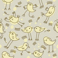 Seamless childlike pattern Stock Photo