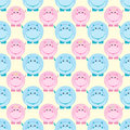 Seamless children pattern vector illustration