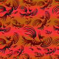 Seamless chinese dragon-bird pattern Royalty Free Stock Photo