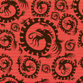 Seamless chinese dragon pattern Stock Image