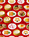 Seamless chinese food pattern Royalty Free Stock Image