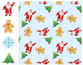 Seamless Christmas background Stock Photos