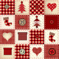 Seamless christmas background in patchwork style Royalty Free Stock Image