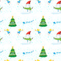 Seamless christmas design illustration of a on a white background Royalty Free Stock Photo