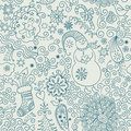 Seamless christmas doodles Stock Images