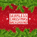 Seamless christmas frame background with xmas tree and snowflakes vector illustration for your design posters greeting card Royalty Free Stock Images