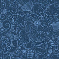 Seamless christmas night pattern Stock Photos