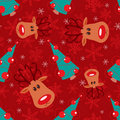 Seamless christmas pattern. Royalty Free Stock Photography
