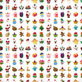 Seamless christmas pattern cartoon vector illustration Stock Photos