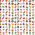 Seamless christmas pattern cartoon vector illustration Royalty Free Stock Image
