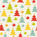 Seamless christmas pattern colored on the light background vector illustration Royalty Free Stock Image