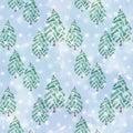 Seamless Christmas pattern.
