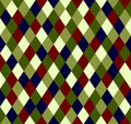 Seamless christmas pattern rhombus in xmas style from light green to dark blue Royalty Free Stock Photography