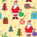Seamless christmas pattern with santa klaus Royalty Free Stock Photography