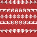 Seamless christmas pattern with snowflakes. traditional sweater pattern