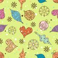 Seamless christmas pattern vector illustration Royalty Free Stock Photos