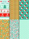 Seamless christmas pattern vector set