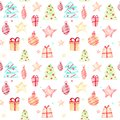 Seamless Christmas pattern on a white background