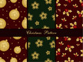 Seamless christmas patterns Stock Image