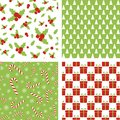Seamless Christmas patterns. Set of backgrounds for wrapping paper, wallpaper, fabric design