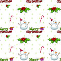 A seamless christmas template illustration of on white background Royalty Free Stock Photo