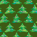 Seamless Christmas Tree Background Royalty Free Stock Image