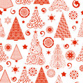 Seamless christmas tree pattern funky and unique trees in a access the swatch to fill in your designs Royalty Free Stock Photos