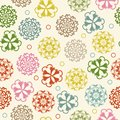 Seamless circle floral retro doodle background pattern in . Zentangle circles for printing on fabric or paper. Royalty Free Stock Photo