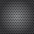 Seamless circle metal surface texture Stock Image