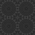 Seamless circle ornamental pattern background