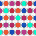 Seamless circles backgrounds with colored Stock Photography