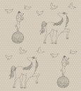 Seamless circus pattern Stock Photography