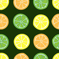 Seamless citrus fruit Royalty Free Stock Photo