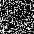 Seamless city map pattern Royalty Free Stock Photo