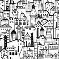 Seamless city pattern.