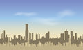 Seamless City. Silhouettes of of tall buildings against the blue sky. Royalty Free Stock Photo