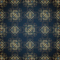 Seamless with classic gold floral patter Royalty Free Stock Images