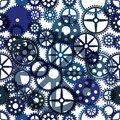 Seamless clockwork background, vector Eps8 image Royalty Free Stock Images