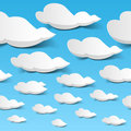Seamless clouds sky Royalty Free Stock Photo