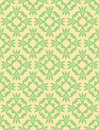 Seamless clover damask pattern a floral based on designs Royalty Free Stock Images