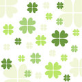 Seamless clover pattern with fabric wallpaper Stock Images