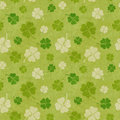 Seamless clover patterns grunge illustration Royalty Free Stock Photos