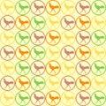 Seamless Chicken pattern vector
