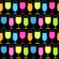 Seamless Cocktail Glasses Pattern Royalty Free Stock Photo