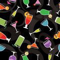 Seamless cocktail pattern Royalty Free Stock Photos