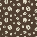 Seamless coffee beans pattern abstract brown Royalty Free Stock Images
