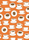 Seamless Coffee Pattern Stock Image