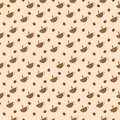 Seamless coffee pattern Royalty Free Stock Images
