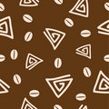 Seamless coffee pattern 2. Royalty Free Stock Image