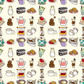Seamless coffee pattern Stock Images
